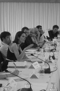 Scholars at a 2009 conference
