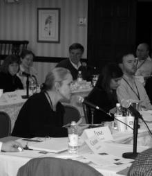 Jane Cramer offers her input at the 2009 National Security conference